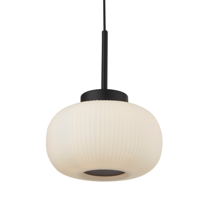 Andor - Scandi Frosted Ribbed Glass Pendant Ceiling Light