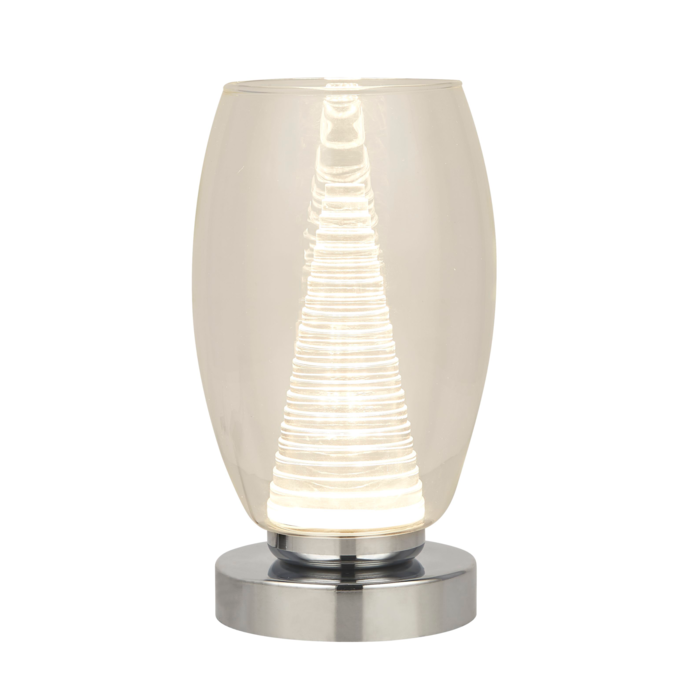 Tornado - Modern LED Clear Glass Table Lamp