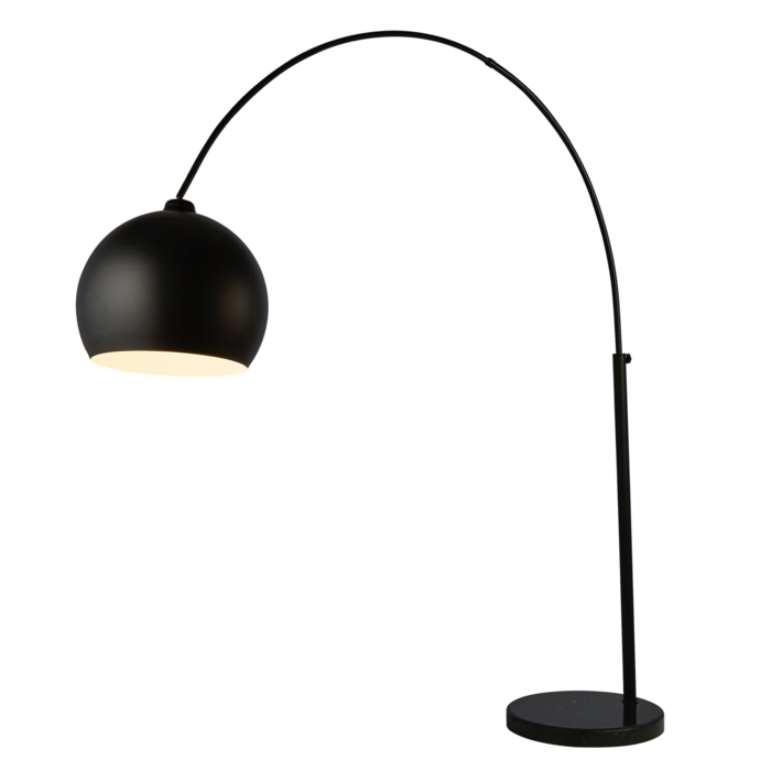 Boden - Giant Arc Matt Black Floor Lamp