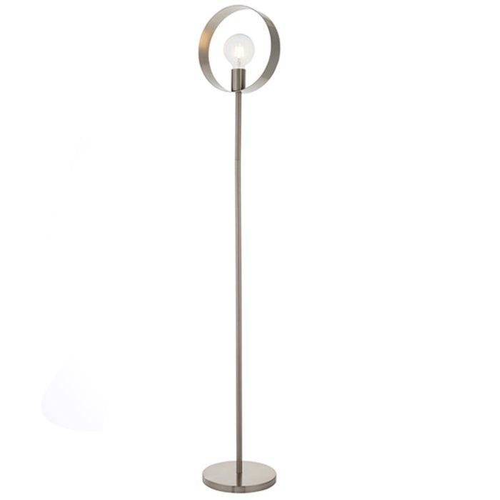 Hoop - Minimalist Hoop Feature Floor Lamp - Brushed Nickel