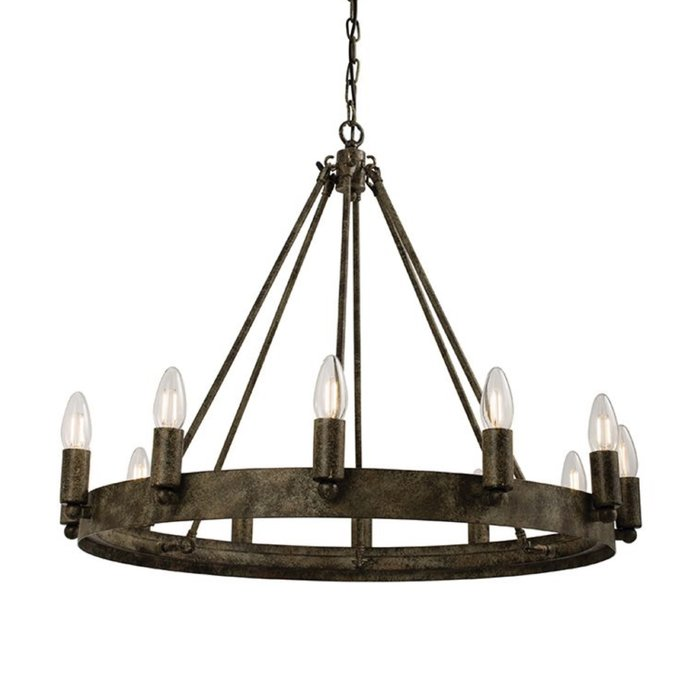 Wagon - Aged Cartwheel Ceiling Light