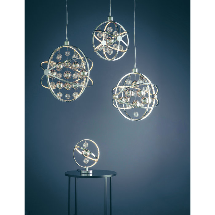 Orbital Table Lamp - LED - Polished Chrome