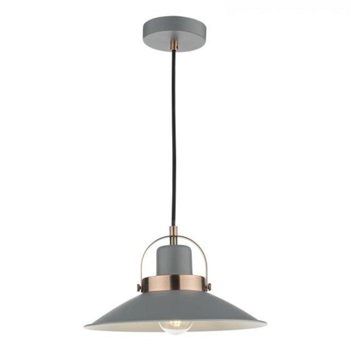 Lido - Graphite Grey and Copper Refined Industrial Pendant