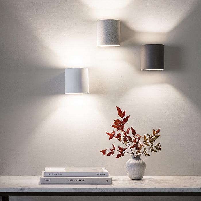 Joaquin - Minimalist White Sandstone Concrete Up & Down Wall Light