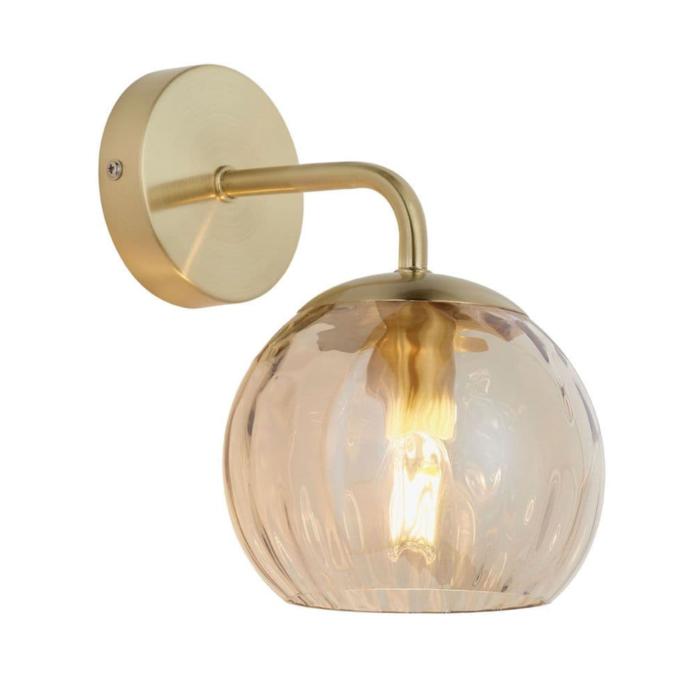Ripple - Amber Glass Wall Light