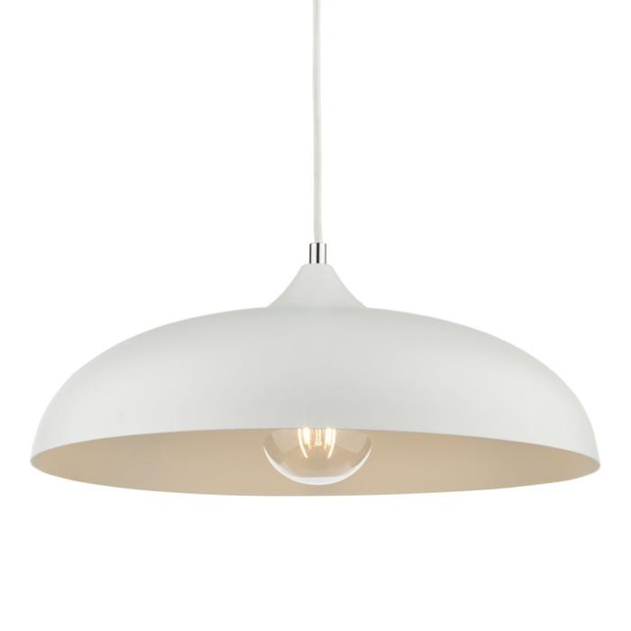 Kayleb - Chalky White Dome Pendant Light