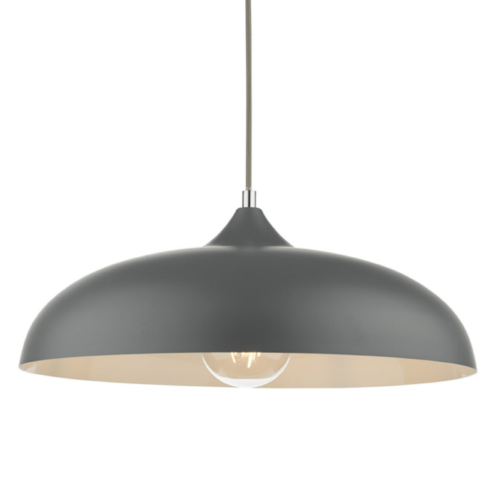 Kayleb - Graphite Grey Dome Pendant Light