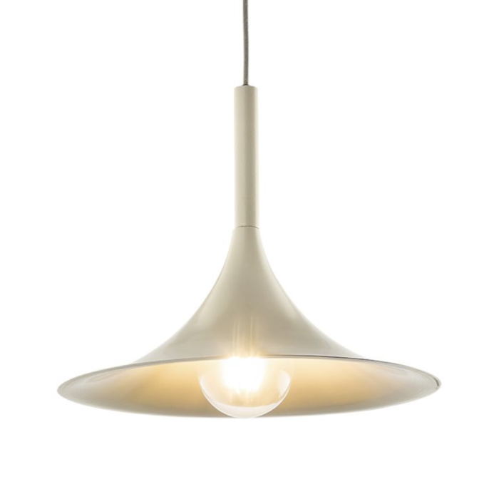 Thora - Cream Powder Coated Scandi Pendant Light