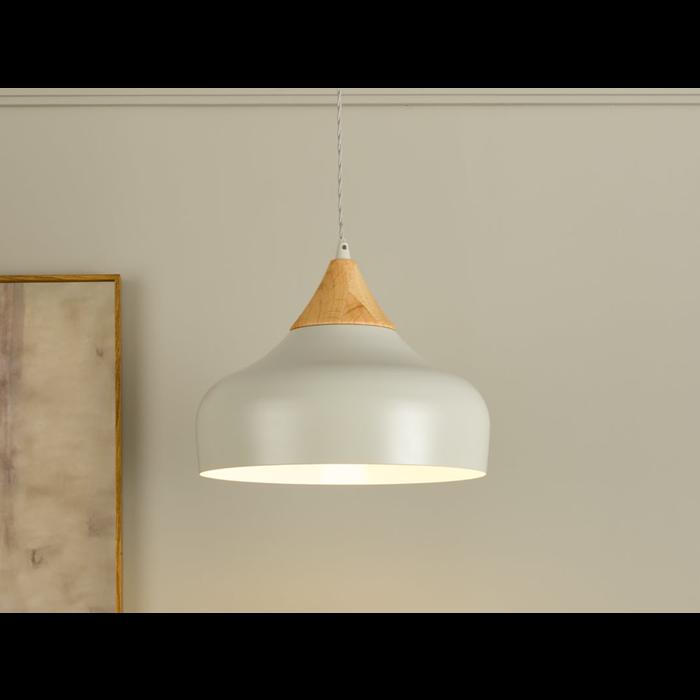Stellan - Grey & Wood Pendant Light