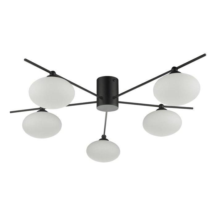 Robin - Minimalist Mid Century Semi Flush Ceiling Light - Black