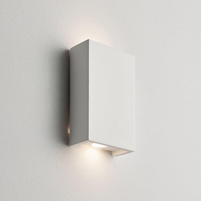Juni - Modern White Plaster Up & Down Wall Light