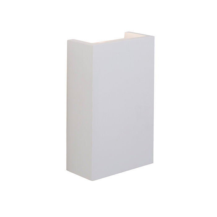Juni - Modern White Plaster Up & Down Wall Light