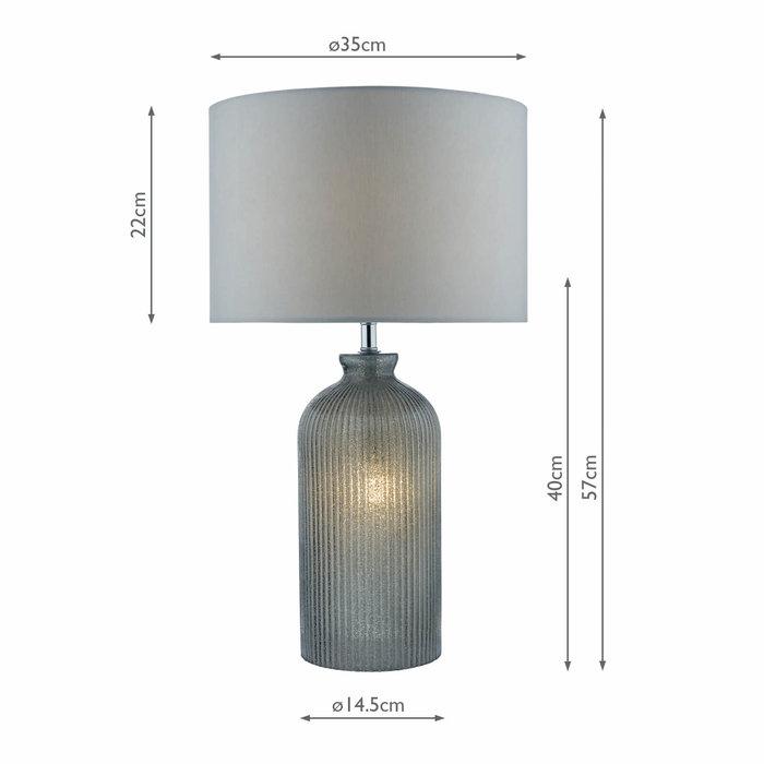 Pamplona - Dual Source Grey Glass Table Lamp