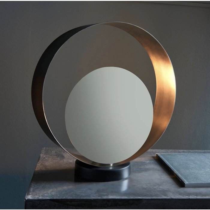 Diffuser - Matt Black & Nickel Diffuser Table Lamp