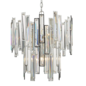 Ondra - Modern Art Deco Tiered Clear Crystal Chandelier - Polished Chrome