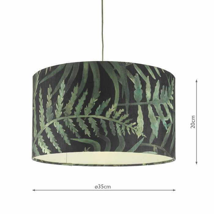 Bamboo Easy Fit Drum Shade - 35cm - Small