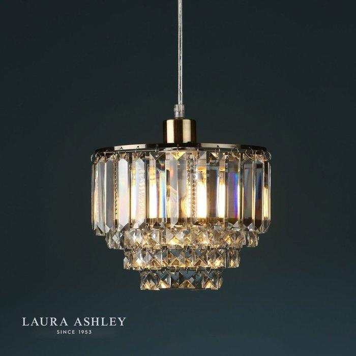 Vienna - Crystal & Brass Easy Fit Pendant Shade - Laura Ashley