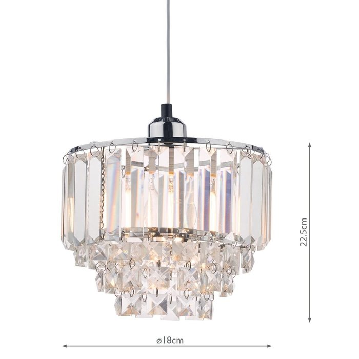 Vienna - Crystal & Chrome Easy Fit Pendant Shade - Laura Ashley