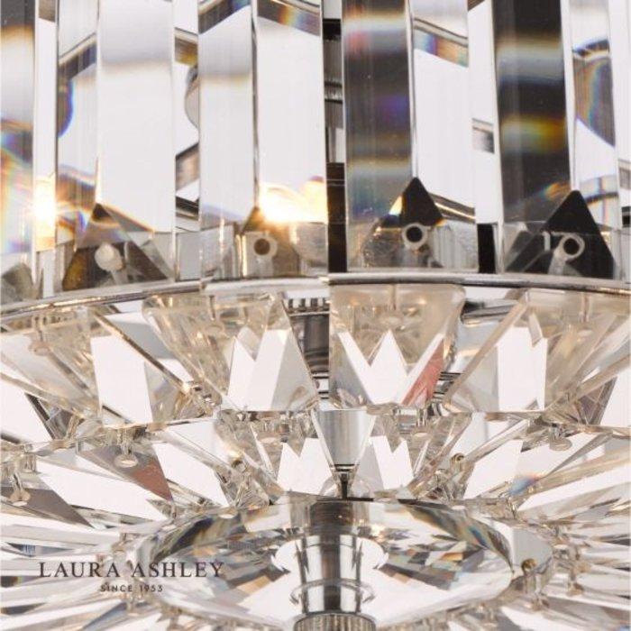 Fernhurst - Art Deco 3 Light Semi-Flush Feature Ceiling Light - Laura Ashley