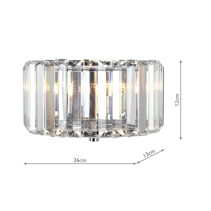Fernhurst- Crystal Art Deco Flush Wall Light - Laura Ashley