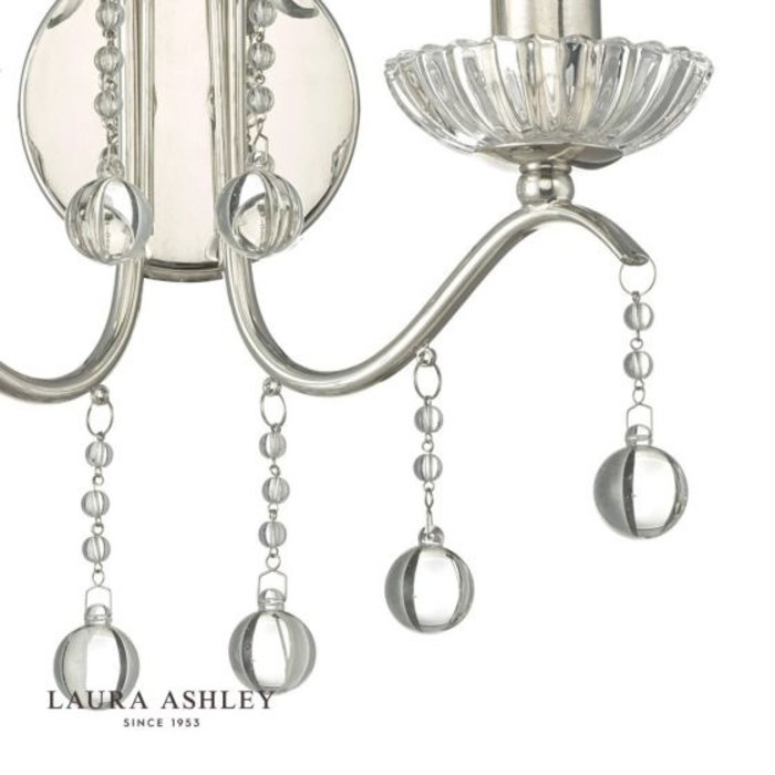 Charlotte - Classic Waterfall Crystal Wall Light - Laura Ashley