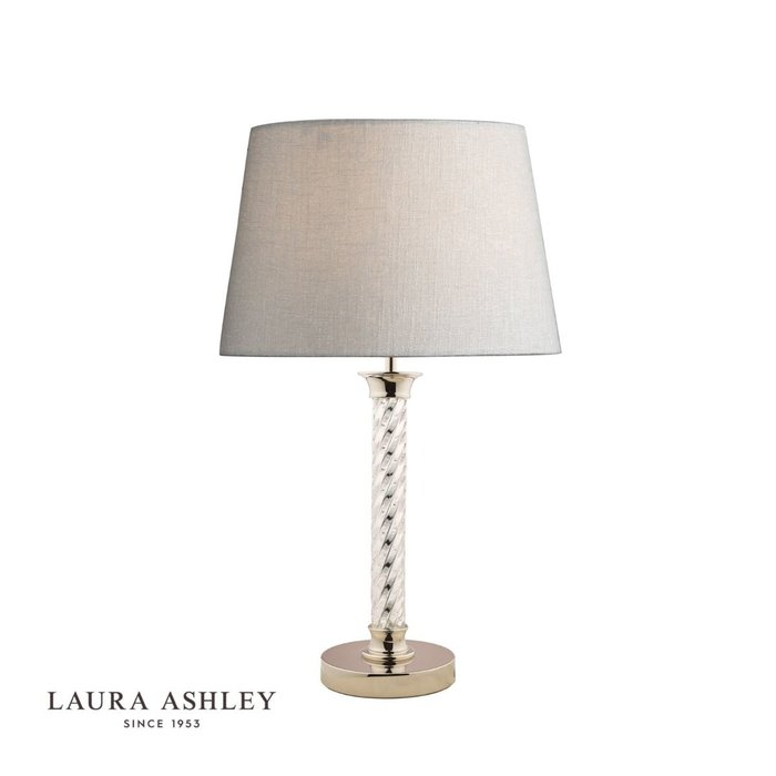 Louis - Twisted Glass Column Table Lamp - Base - Laura Ashley