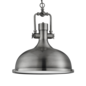 Indie - Antique Nickel Industrial Pendant with Diffuser