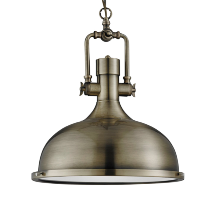 Indie - Antique Brass Industrial Pendant