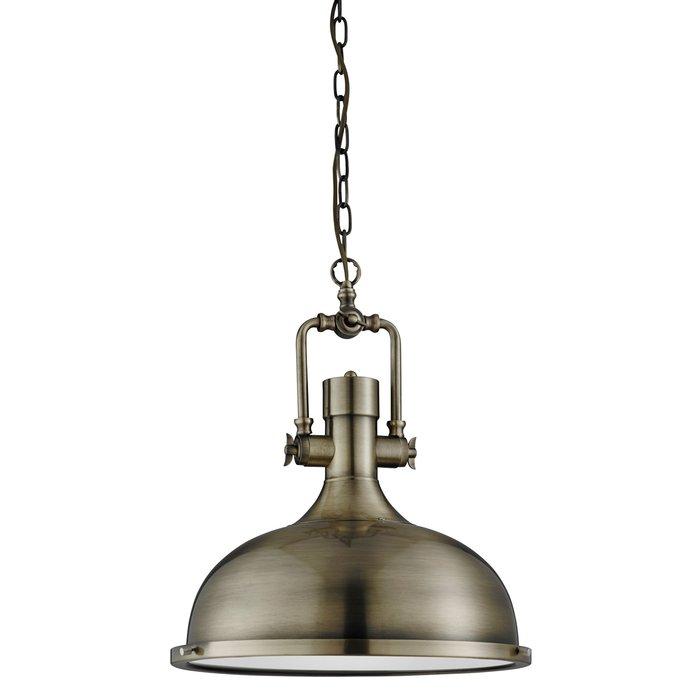 Indie - Antique Brass Industrial Pendant