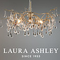Willow - Crystal Raindrop Feature Ceiling Light - Laura Ashley