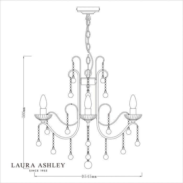 Charlotte - 5 light Waterfall Crystal Chandelier - Laura Ashley