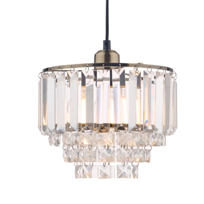 Vienna - Crystal & Brass Easy Fit Pendant Shade - Laura Ashley