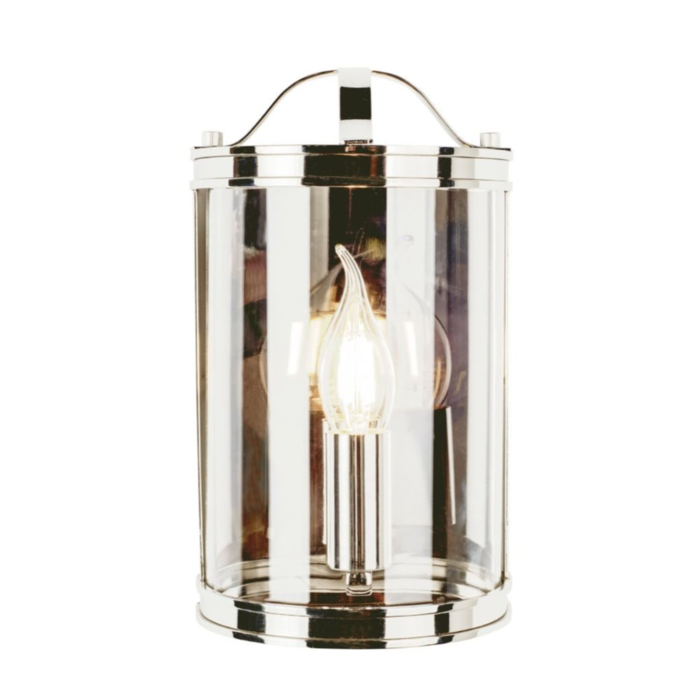 Harrington - Half Moon Lantern Wall Light - Polished Nickel - Laura Ashley