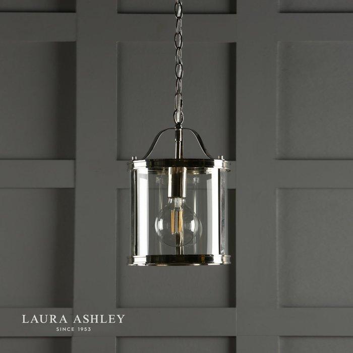 Harrington - Polished Nickel Single Lantern Ceiling Light - Laura Ashley
