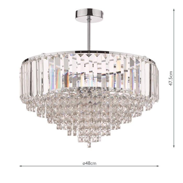 Vienna - Crystal & Chrome Semi Flush Fountain Feature Ceiling Light - 5 Light - Laura Ashley