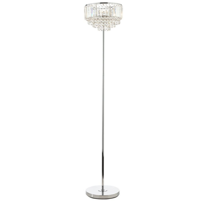 Vienna - Crystal Fountain Floor Lamp - Laura Ashley