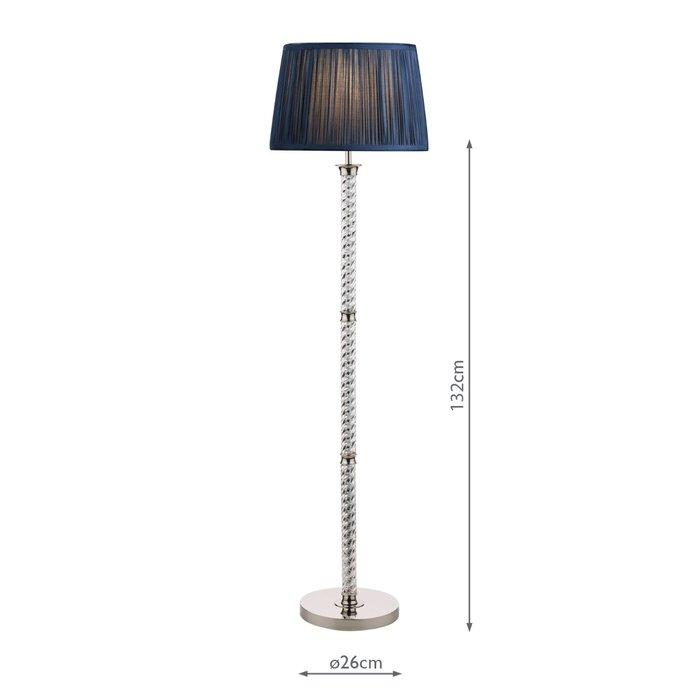 Louis - Twisted Glass Column Floor Lamp - Base - Laura Ashley