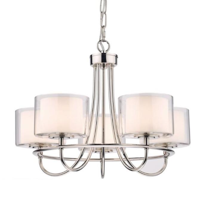 Southwell - Modern Elegant 5 Light Chandelier - Laura Ashley