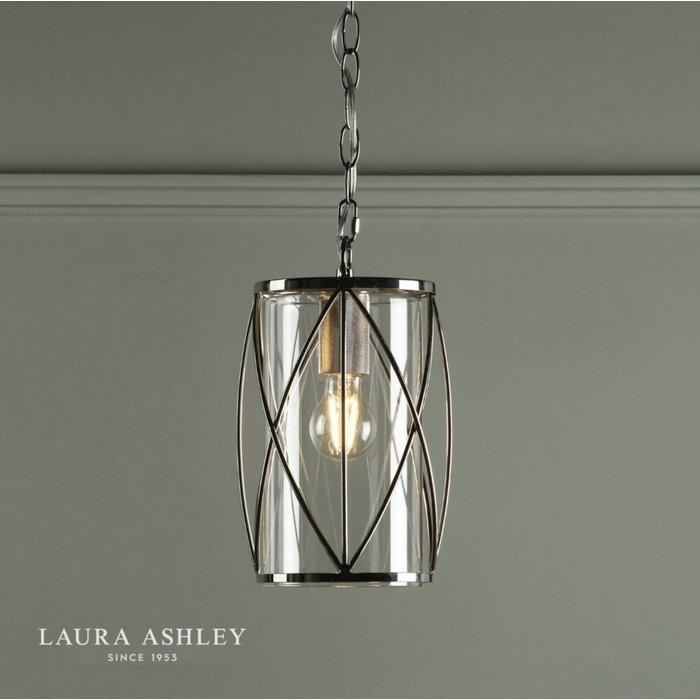 Beckworth - Polished Nickel Lantern Pendant - Laura Ashley