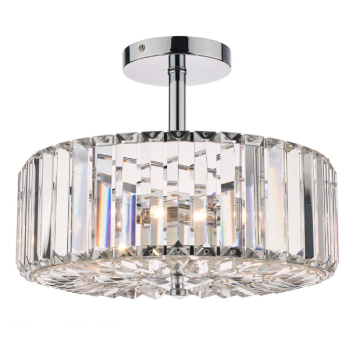 Fernhurst - Art Deco 3 Light Semi-Flush Feature Ceiling Light - Laura Ashley