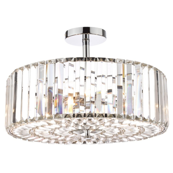 Fernhurst - Art Deco 4 Light Semi-Flush Feature Ceiling Light - Laura Ashley