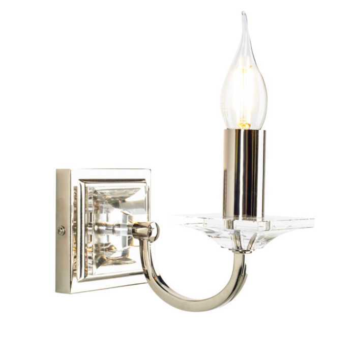 Carson - Cut Glass Classic Single Wall Light - Polished Nickel - Laura Ashley