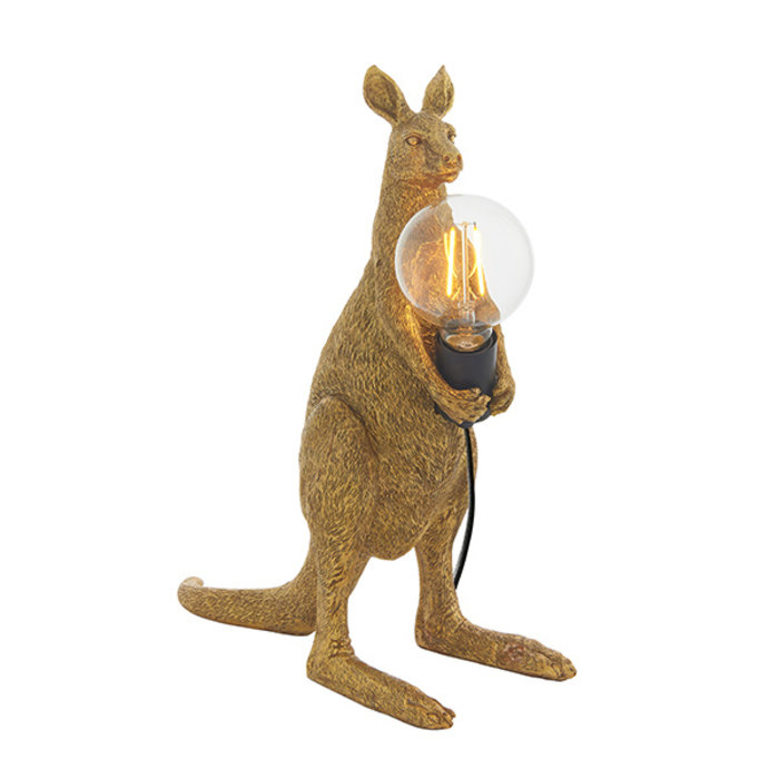 Skippy - Vintage Gold Kangaroo Table Lamp