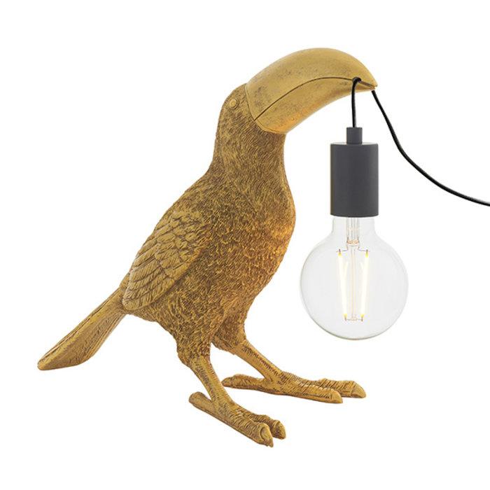 Lauren - Vintage Gold Toucan Table Light