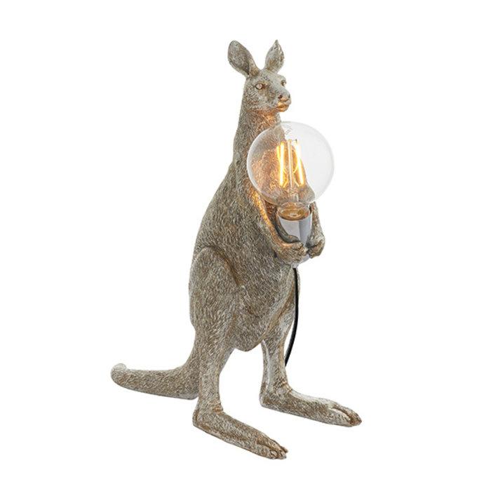 Skippy - Vintage Silver Kangaroo Table Light