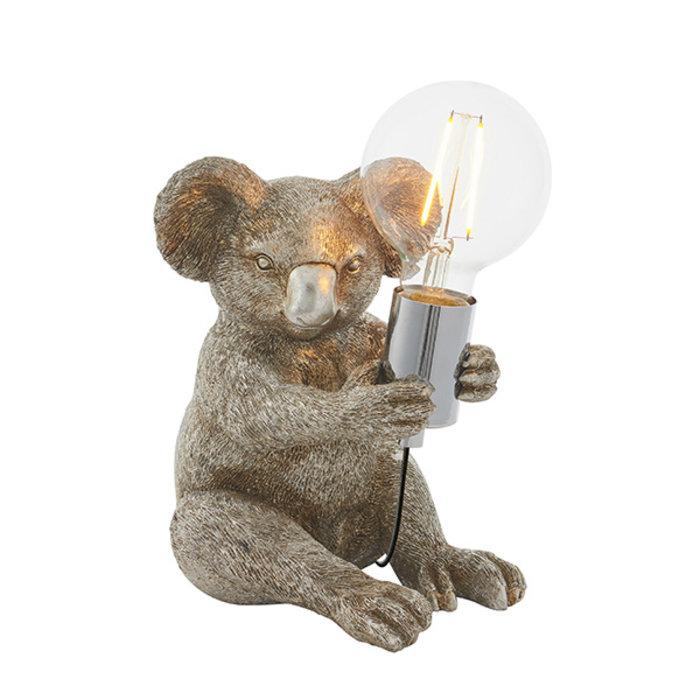 Noah - Vintage Silver Koala Bear Table Light