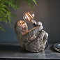 Larry - Sloth Animal Table Lamp - Vintage Silver