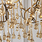 Bedale - Champagne Glass Tree Branch Feature Pendant - Aged Gold