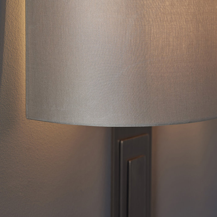Flamborough - Luxury Modern Bronze Wall Light with Mink Shade