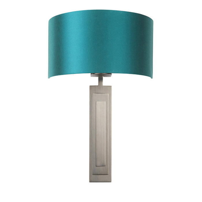 Flamborough - Luxury Bronze Wall Light with Teal Shade
